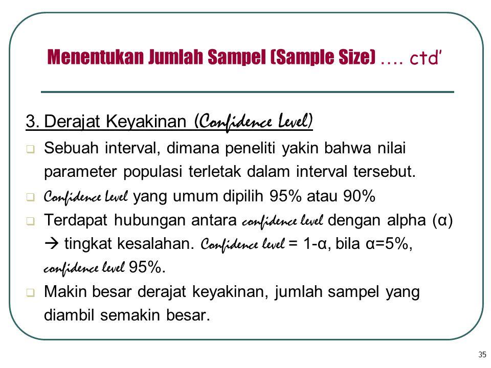 Menentukan Jumlah Sampel (Sample Size) …. ctd'