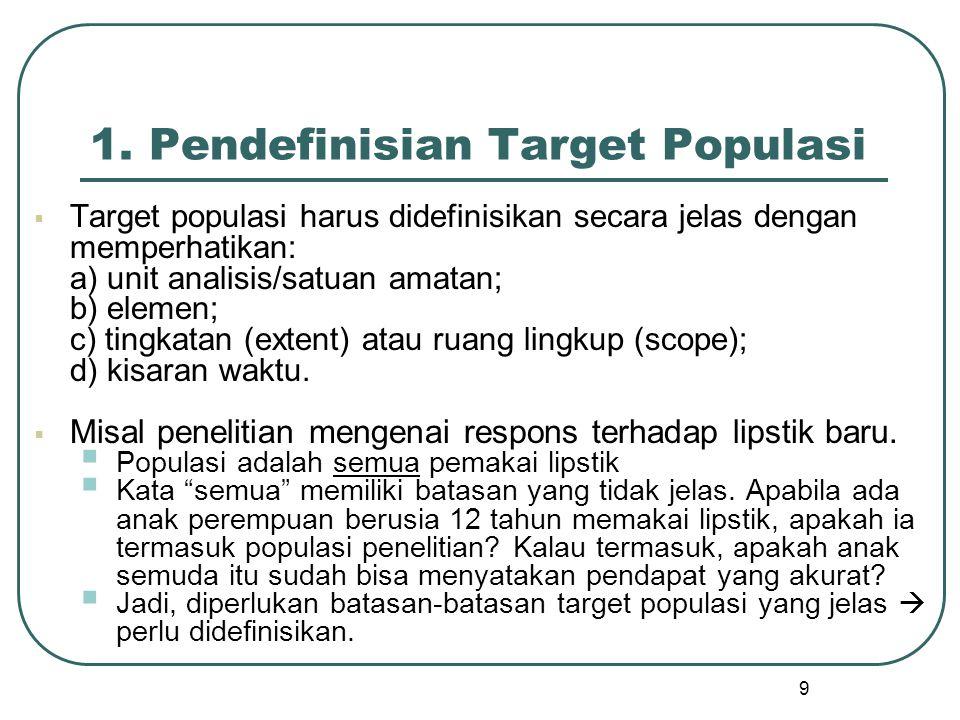 1. Pendefinisian Target Populasi