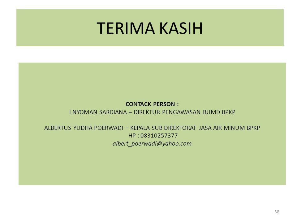 TERIMA KASIH CONTACK PERSON :