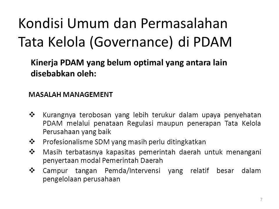 Kondisi Umum dan Permasalahan Tata Kelola (Governance) di PDAM
