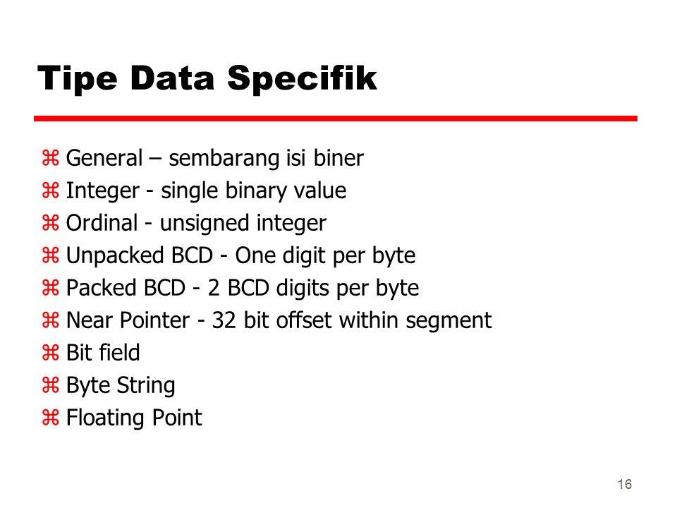 Tipe Data Specifik General – sembarang isi biner