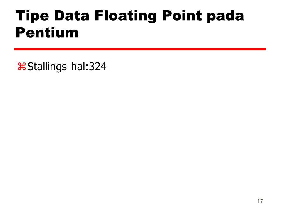 Tipe Data Floating Point pada Pentium