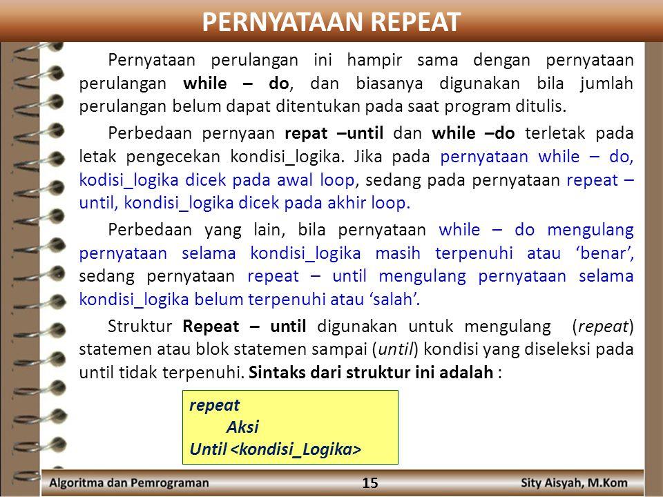 PERNYATAAN REPEAT