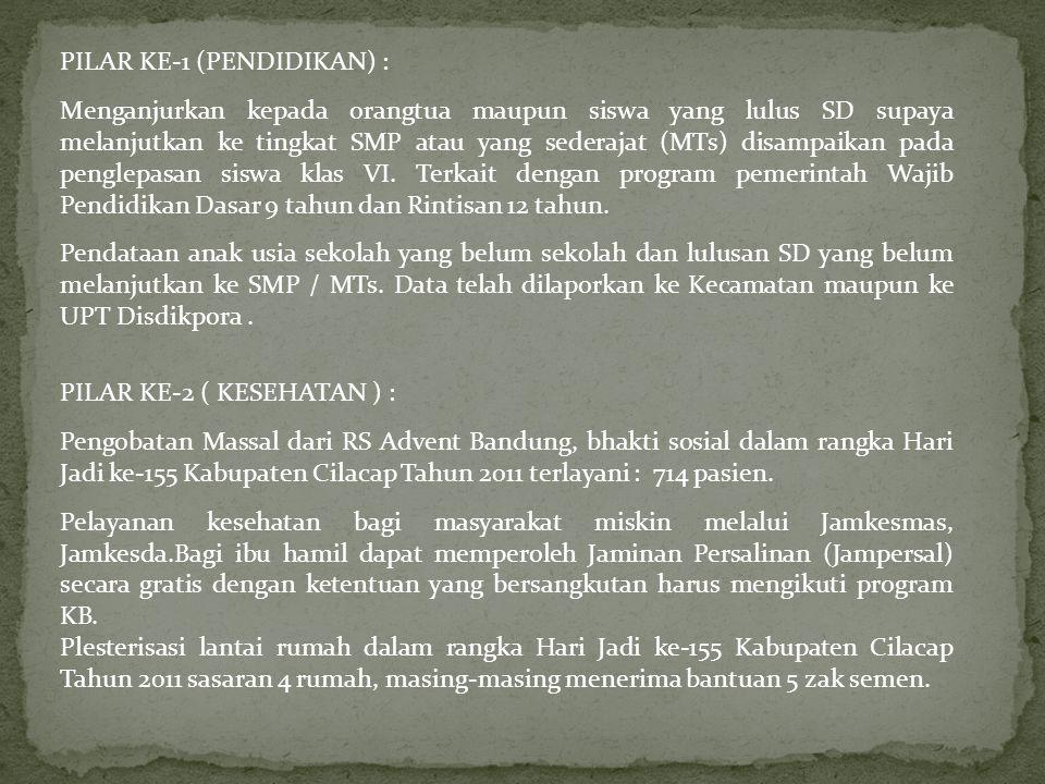 PILAR KE-1 (PENDIDIKAN) :
