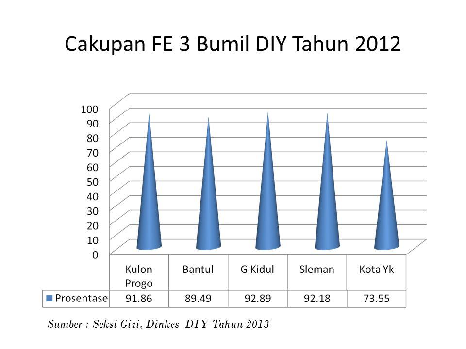 Cakupan FE 3 Bumil DIY Tahun 2012