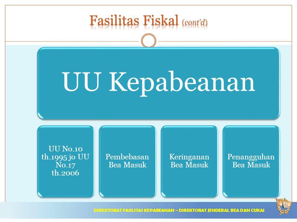 Fasilitas Fiskal (cont'd)
