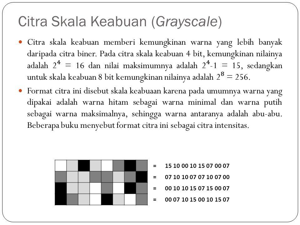 Citra Skala Keabuan (Grayscale)