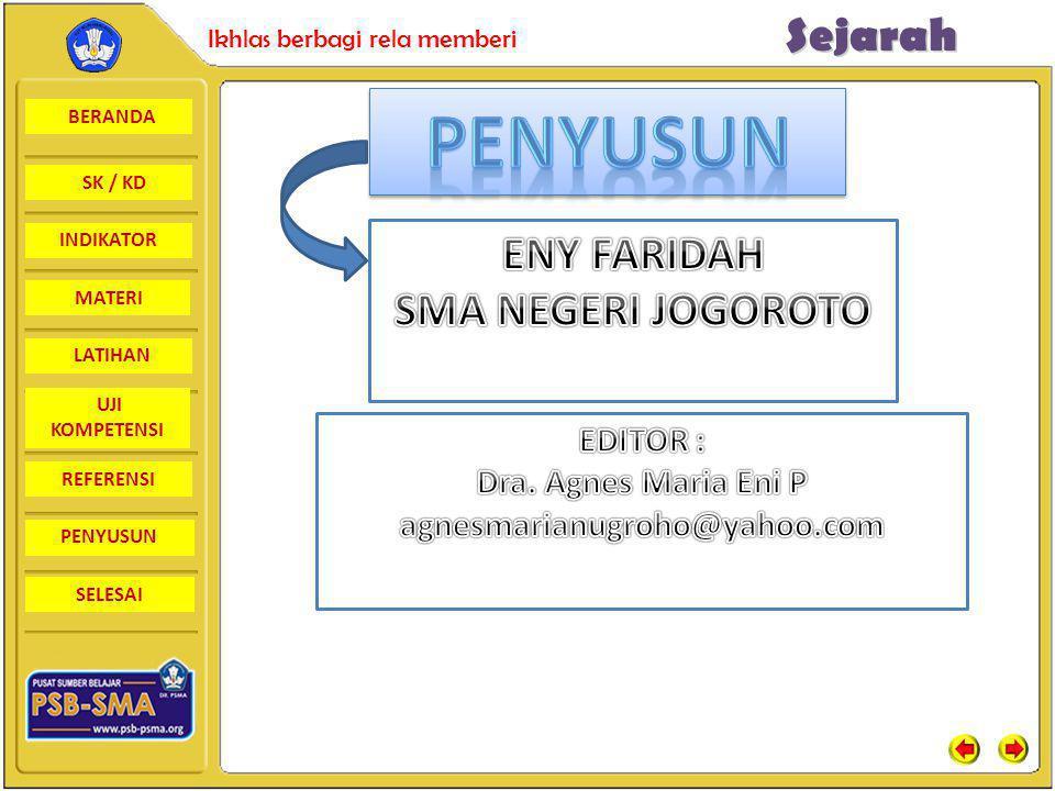 PENYUSUN ENY FARIDAH SMA NEGERI JOGOROTO EDITOR :