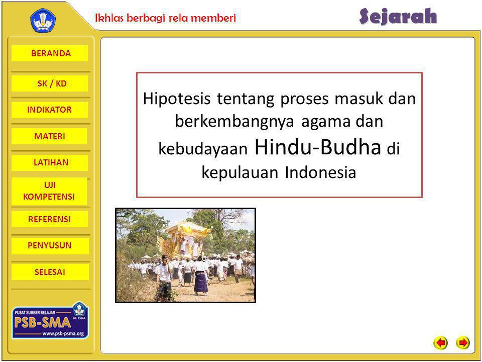 Hipotesis tentang proses masuk dan berkembangnya agama dan kebudayaan Hindu-Budha di kepulauan Indonesia