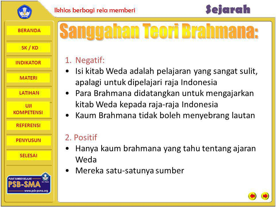 Sanggahan Teori Brahmana: