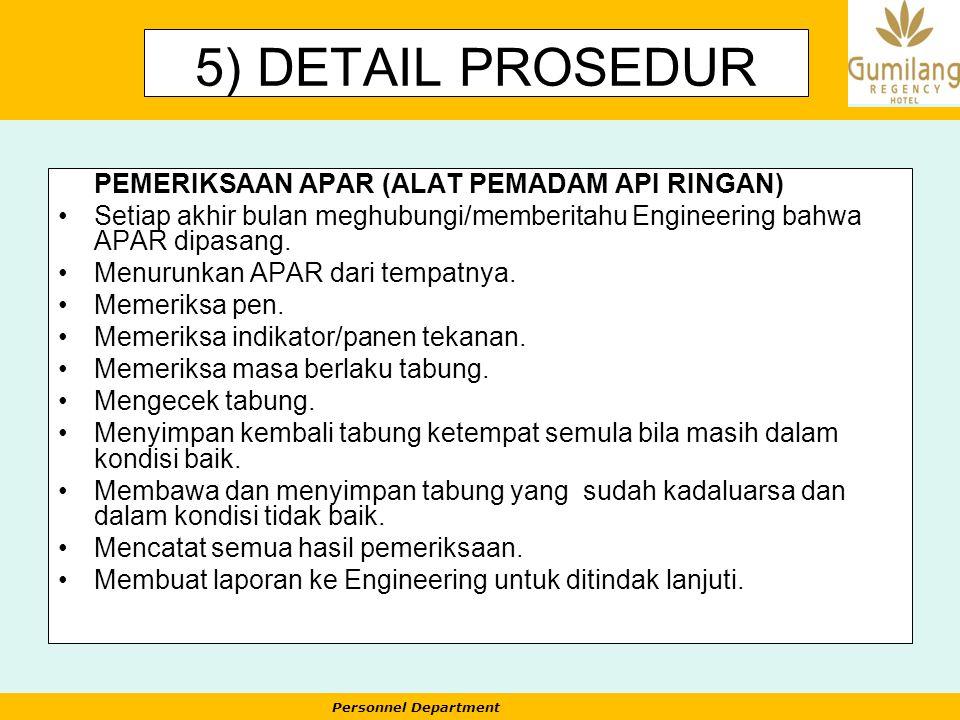 5) DETAIL PROSEDUR PEMERIKSAAN APAR (ALAT PEMADAM API RINGAN)