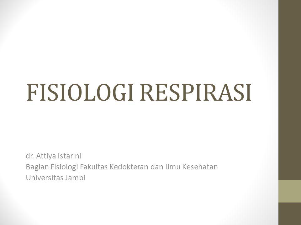 FISIOLOGI RESPIRASI dr. Attiya Istarini