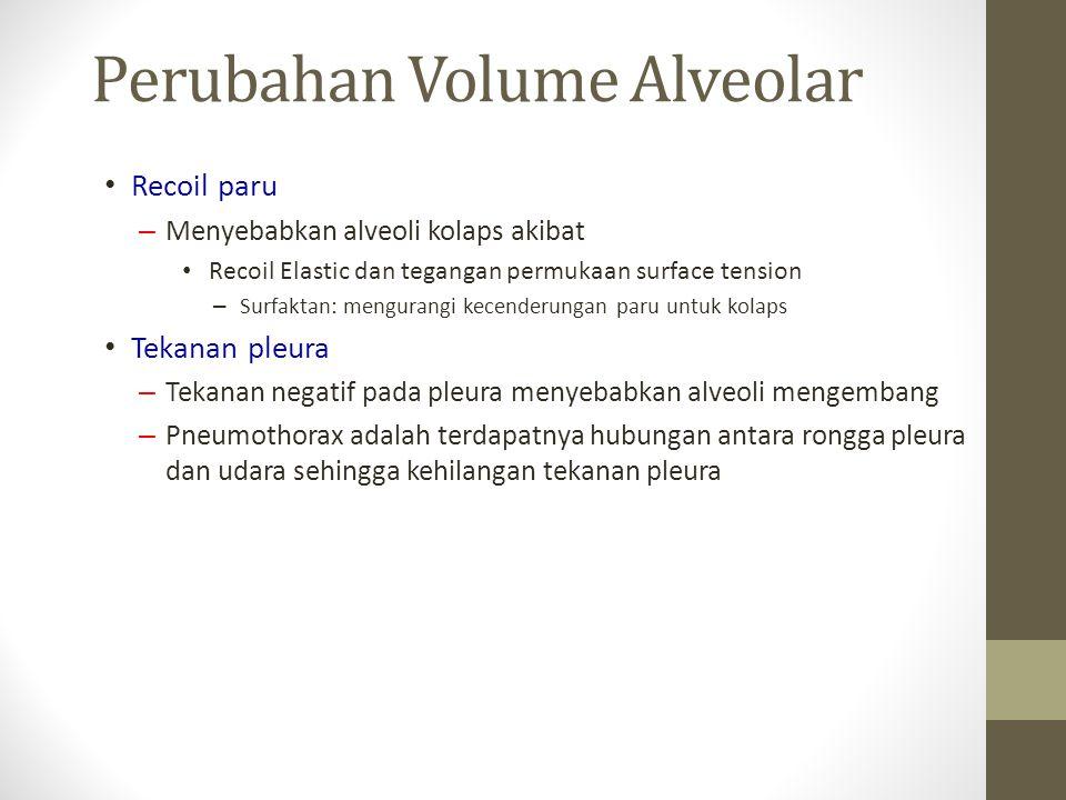 Perubahan Volume Alveolar