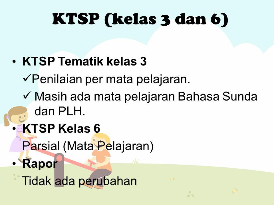 KTSP (kelas 3 dan 6) KTSP Tematik kelas 3