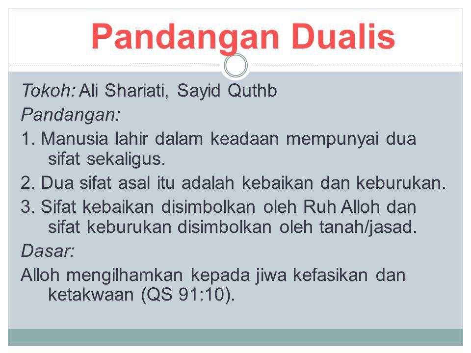 Pandangan Dualis Tokoh: Ali Shariati, Sayid Quthb Pandangan: