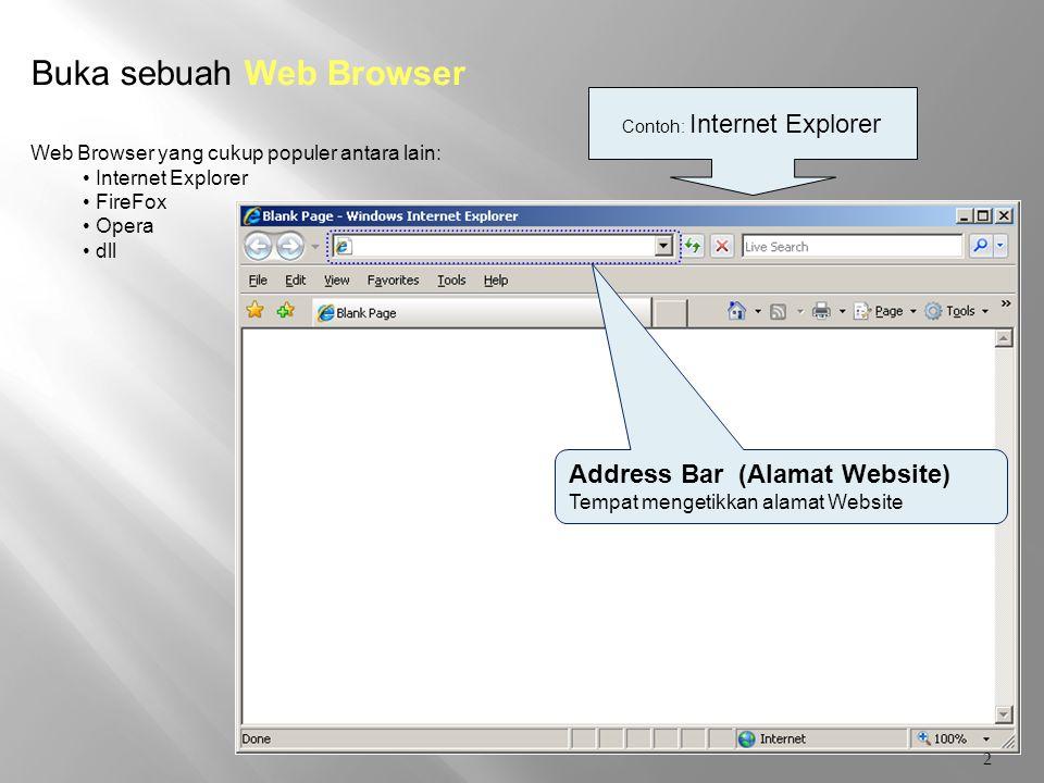 Contoh: Internet Explorer
