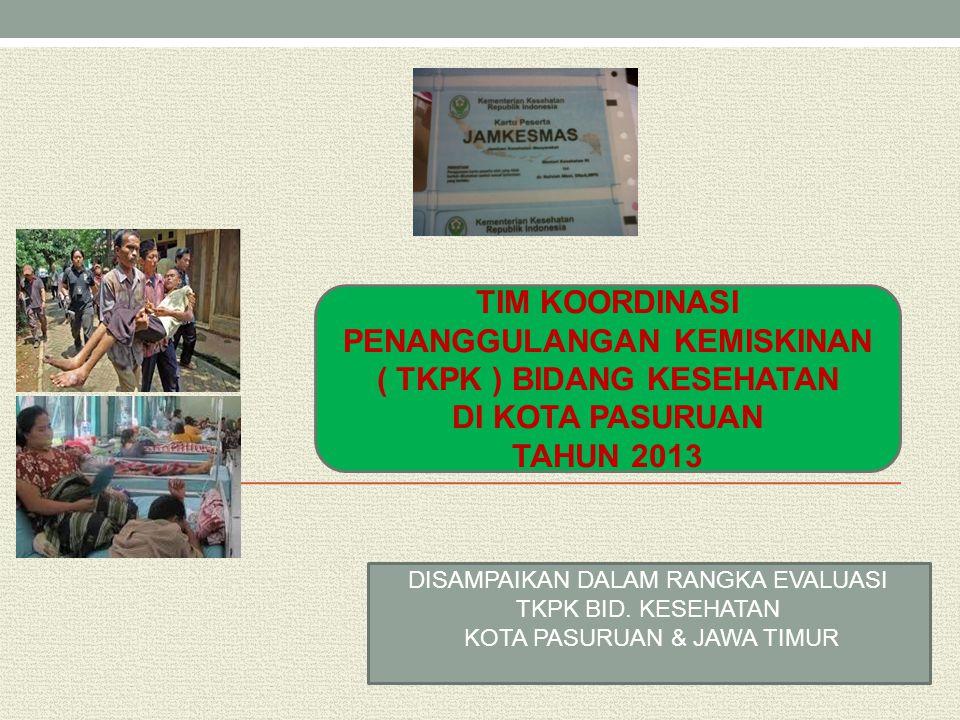 TIM KOORDINASI PENANGGULANGAN KEMISKINAN ( TKPK ) BIDANG KESEHATAN DI KOTA PASURUAN TAHUN 2013