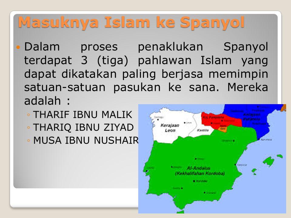 Masuknya Islam ke Spanyol