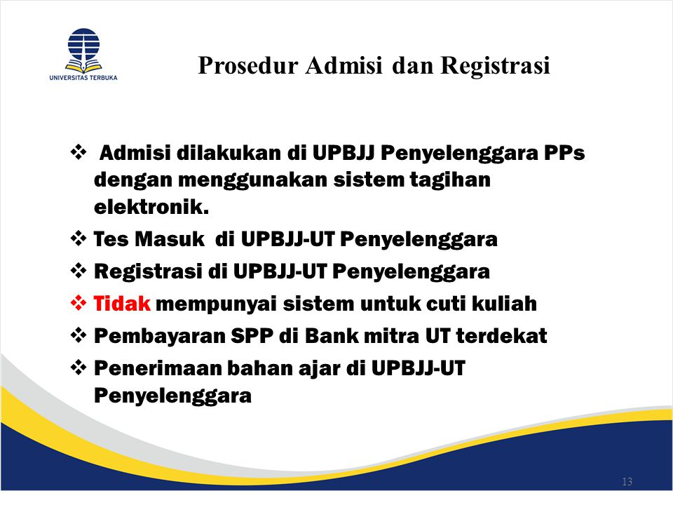 Prosedur Admisi dan Registrasi