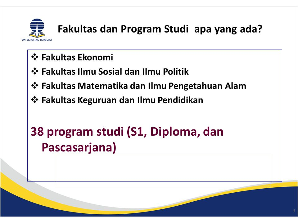Fakultas dan Program Studi apa yang ada