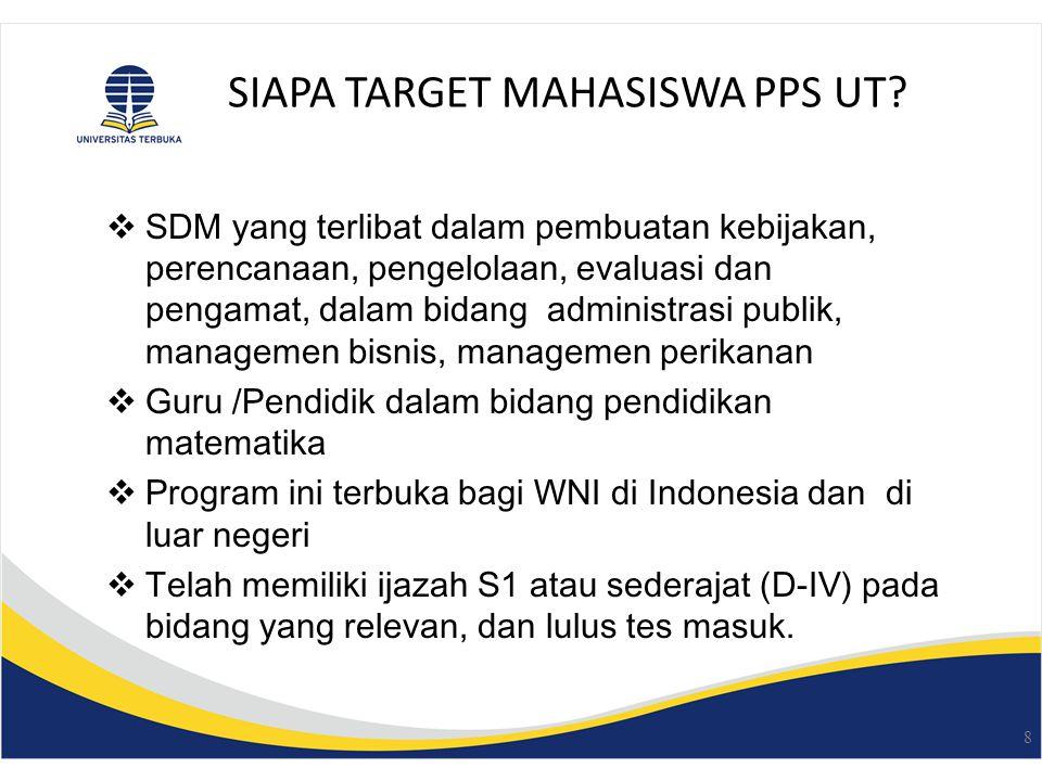 SIAPA TARGET MAHASISWA PPS UT