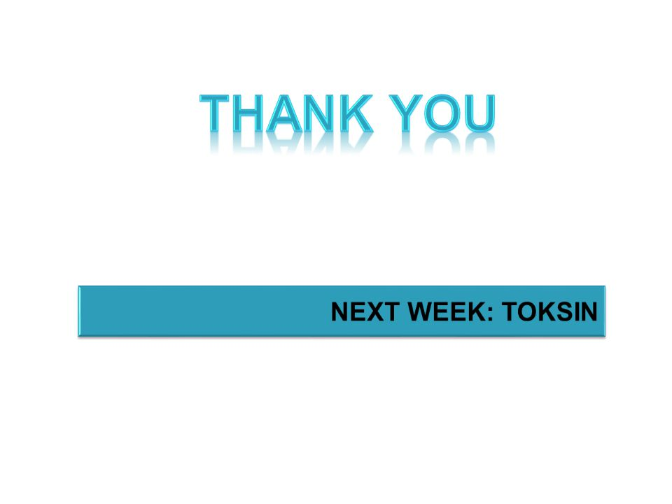 Thank you NEXT WEEK: TOKSIN