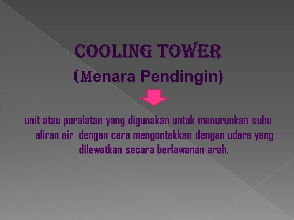 Cooling tower (Menara Pendingin)