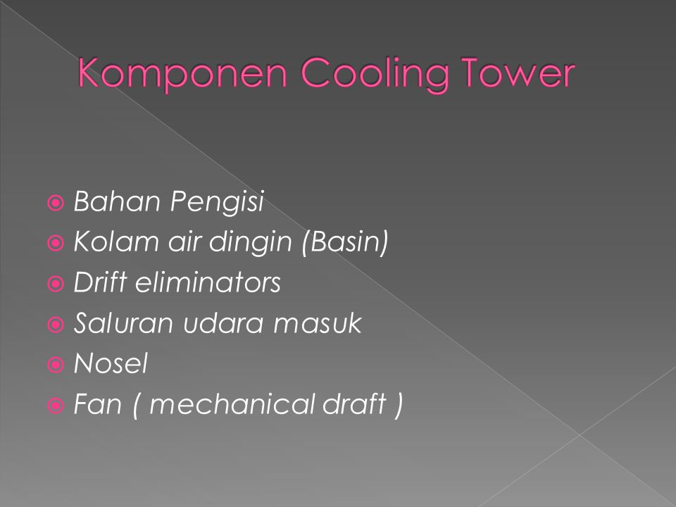 Komponen Cooling Tower
