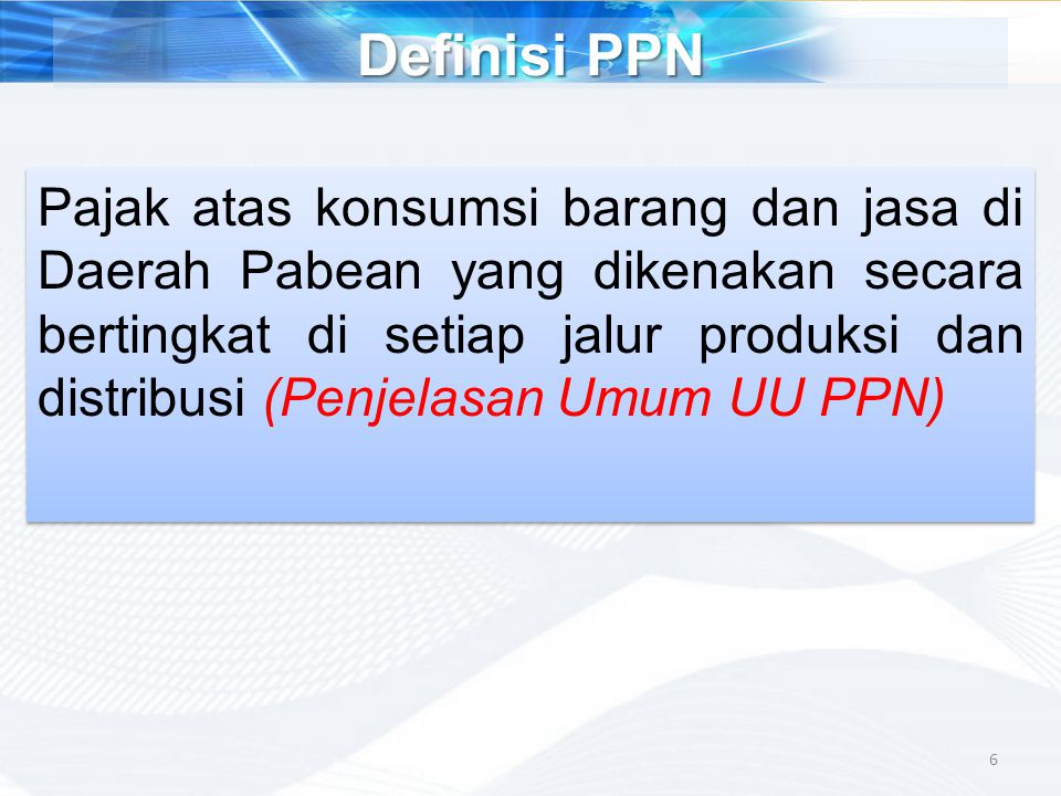 Definisi PPN