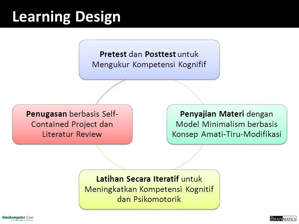 Learning Design Pretest dan Posttest untuk Mengukur Kompetensi Kognifif.