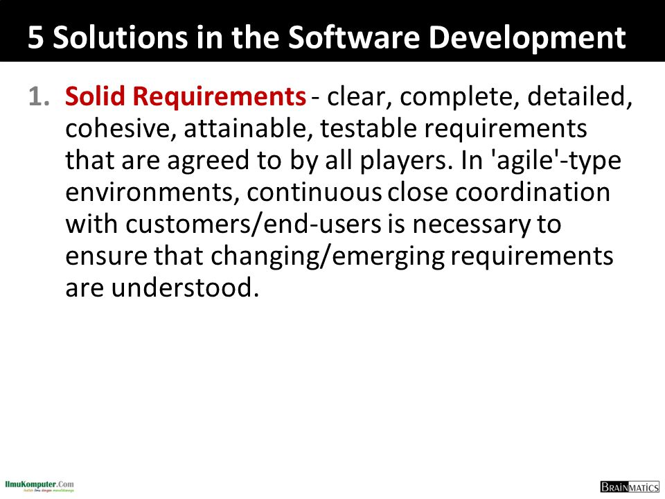 5 Solutions in the Software Development