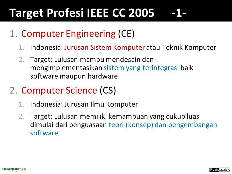 Target Profesi IEEE CC 2005 -1-