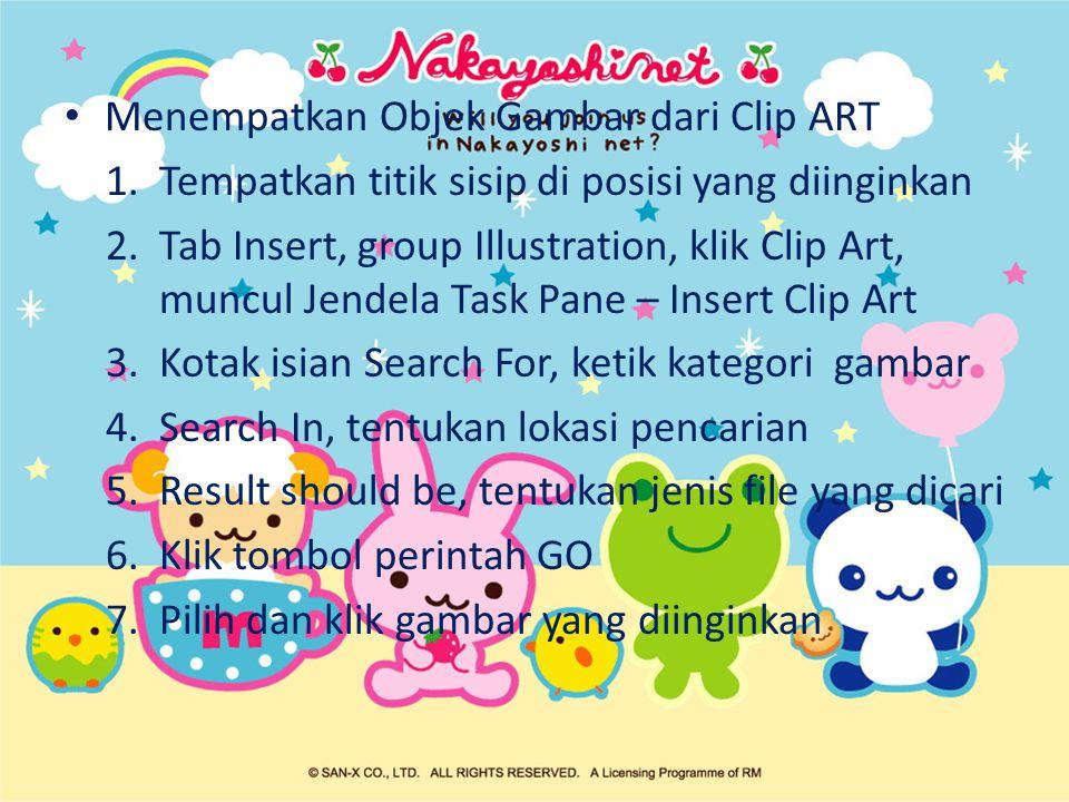Menempatkan Objek Gambar dari Clip ART