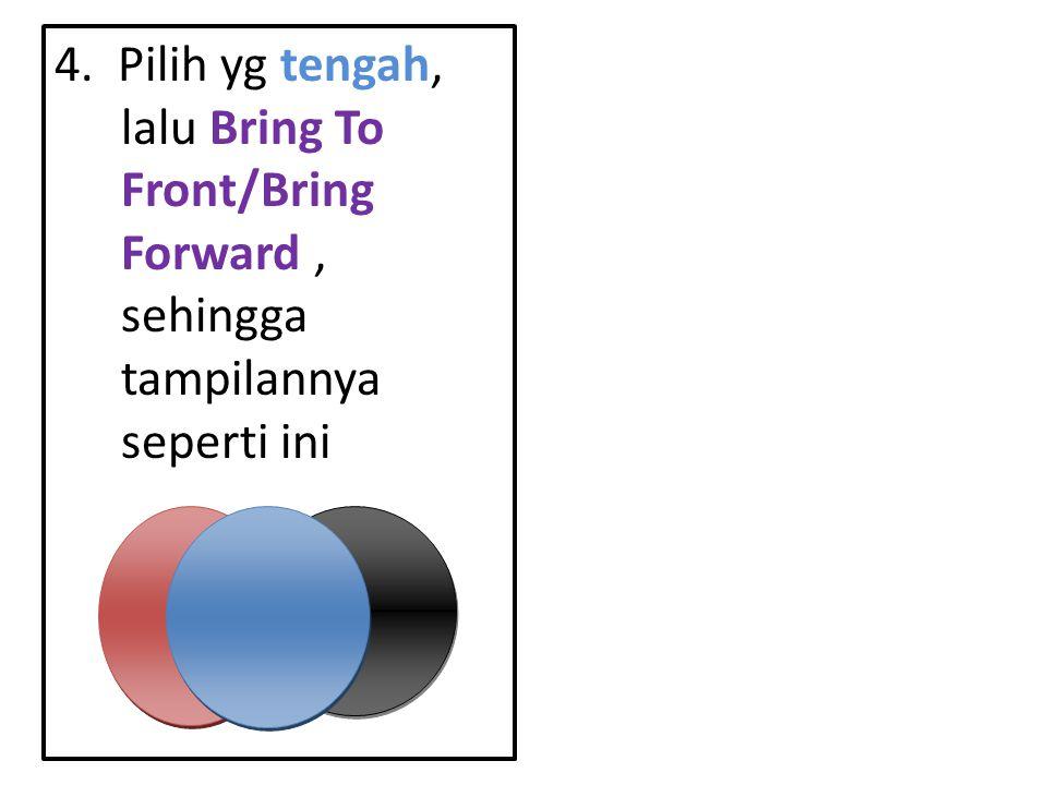 4. Pilih yg tengah, lalu Bring To Front/Bring Forward , sehingga tampilannya seperti ini