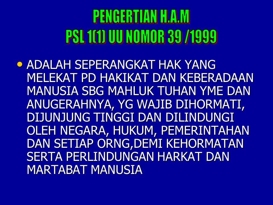 PENGERTIAN H.A.M PSL 1(1) UU NOMOR 39 /1999