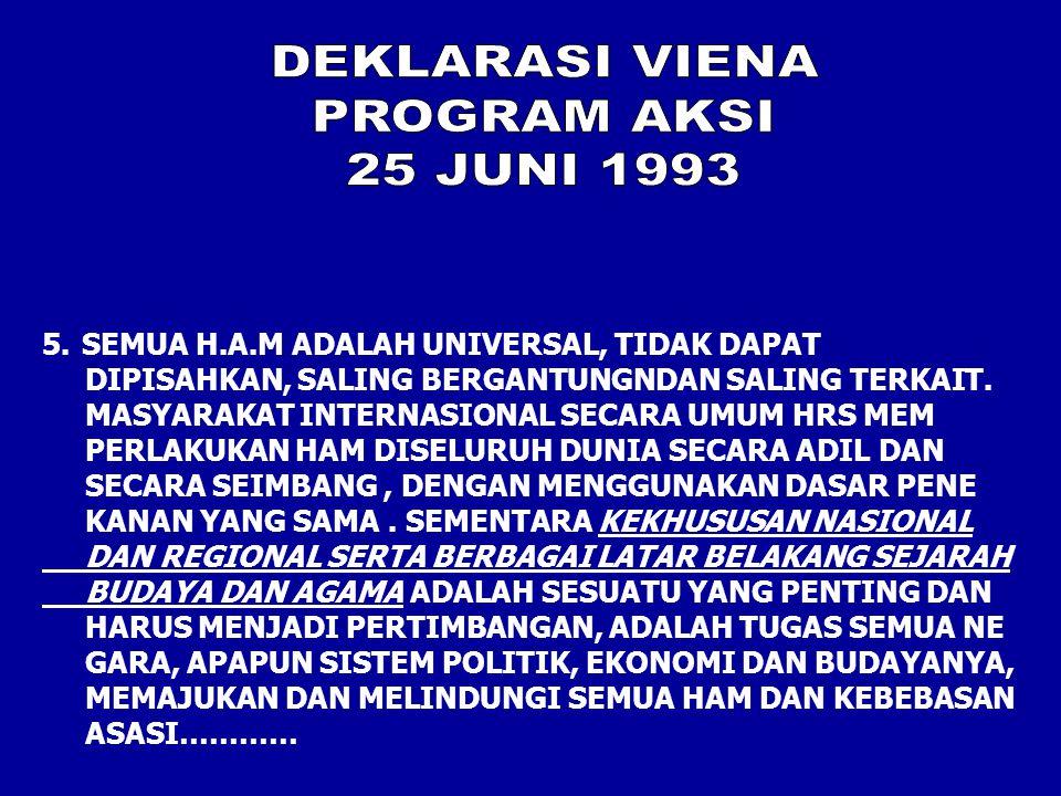DEKLARASI VIENA PROGRAM AKSI 25 JUNI 1993