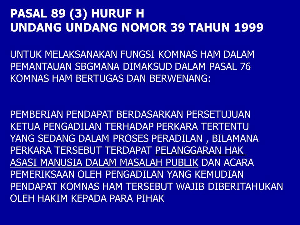 UNDANG UNDANG NOMOR 39 TAHUN 1999