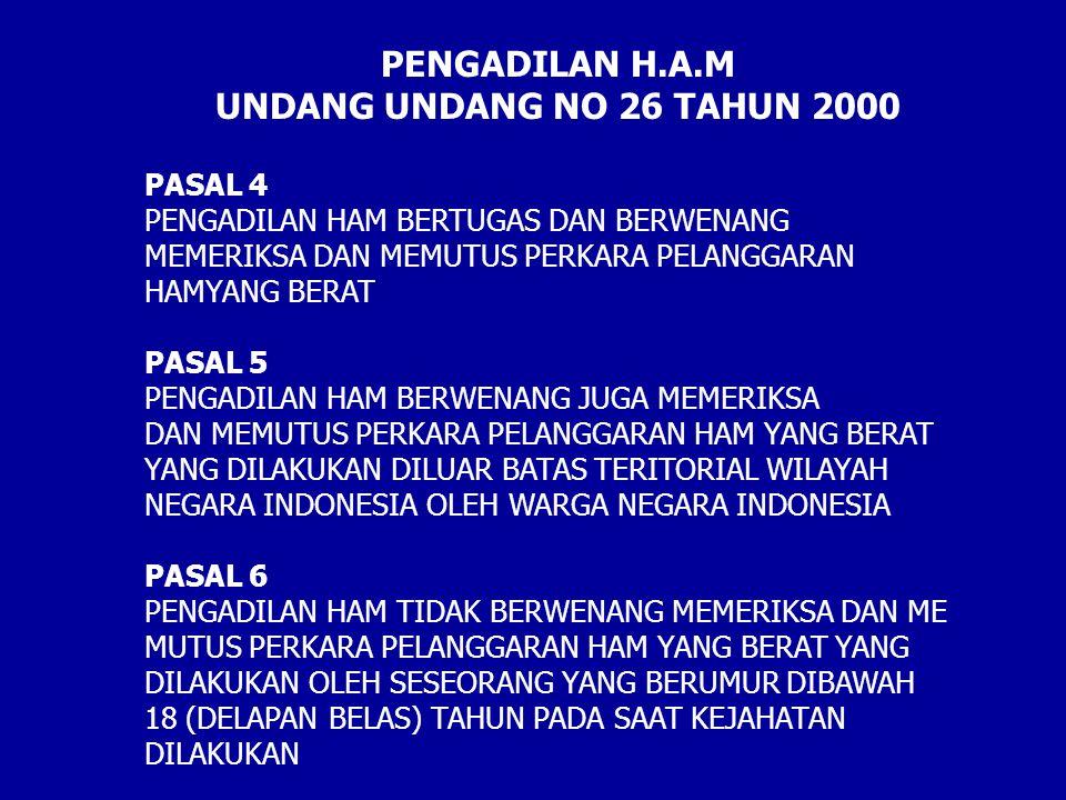 PENGADILAN H.A.M UNDANG UNDANG NO 26 TAHUN 2000