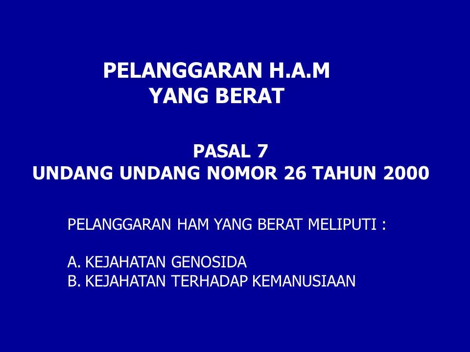 UNDANG UNDANG NOMOR 26 TAHUN 2000