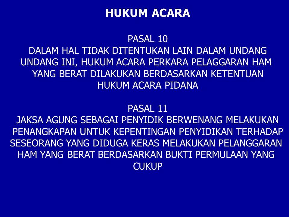 HUKUM ACARA PASAL 10 DALAM HAL TIDAK DITENTUKAN LAIN DALAM UNDANG