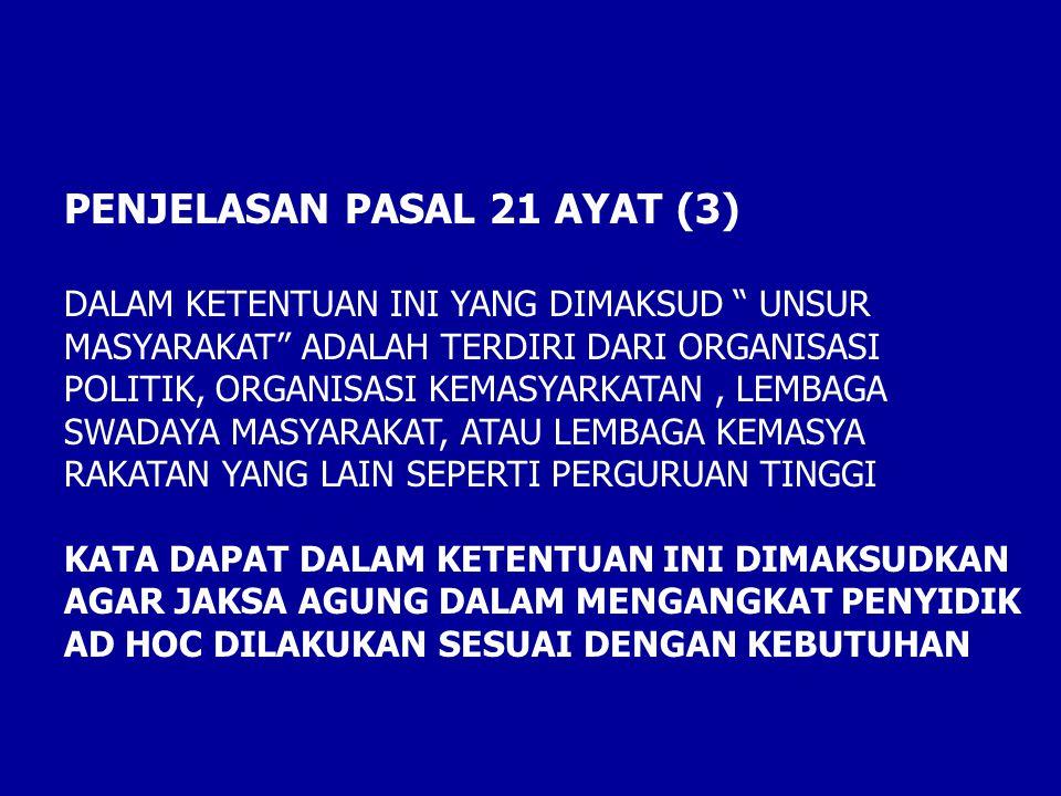 PENJELASAN PASAL 21 AYAT (3)
