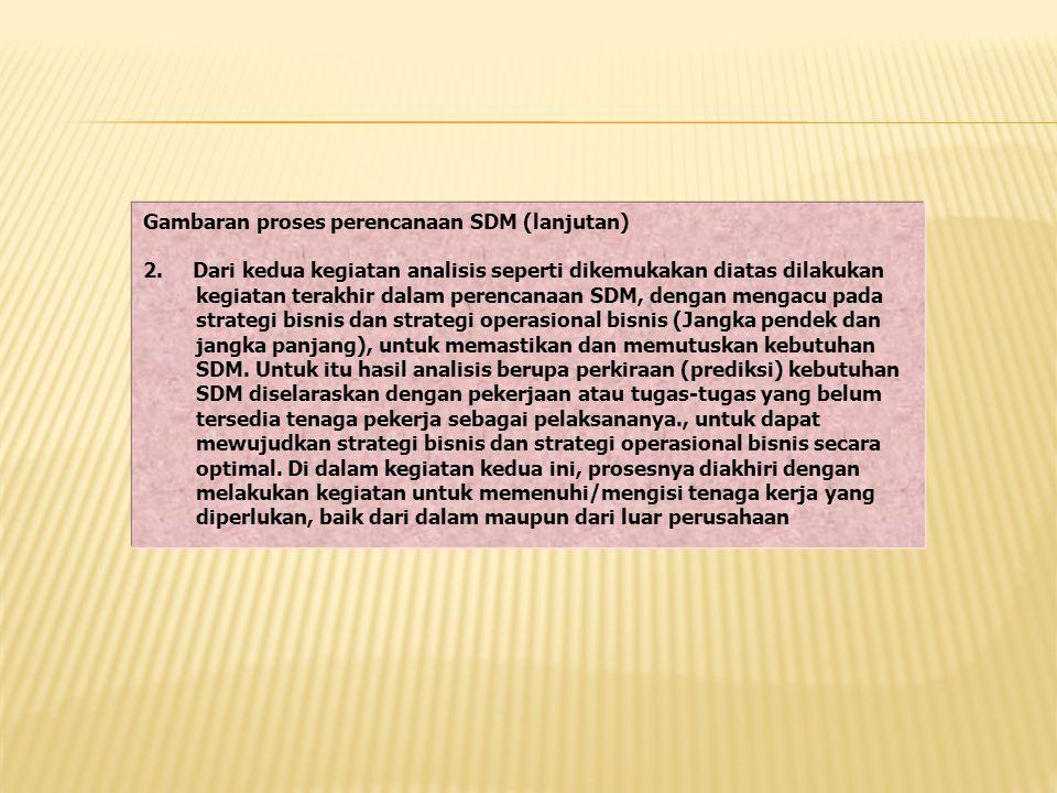 Gambaran proses perencanaan SDM (lanjutan)