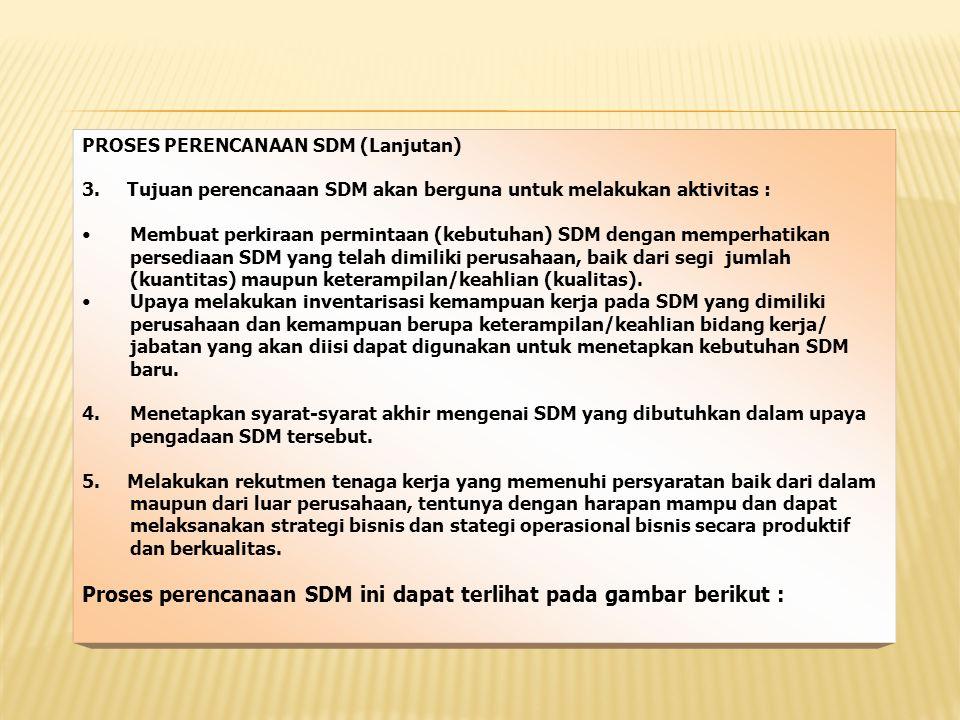 Proses perencanaan SDM ini dapat terlihat pada gambar berikut :