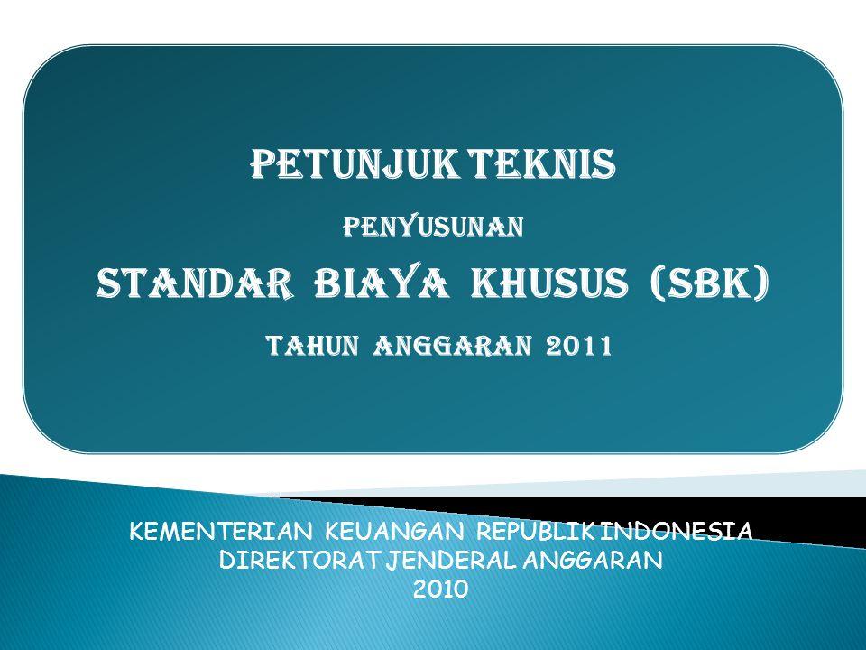 STANDAR BIAYA KHUSUS (SBK)