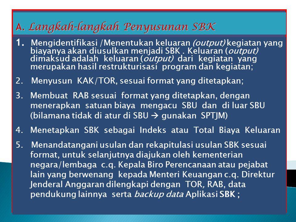 A. Langkah-langkah Penyusunan SBK