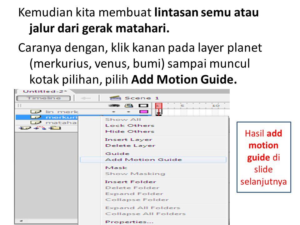 Hasil add motion guide di slide selanjutnya