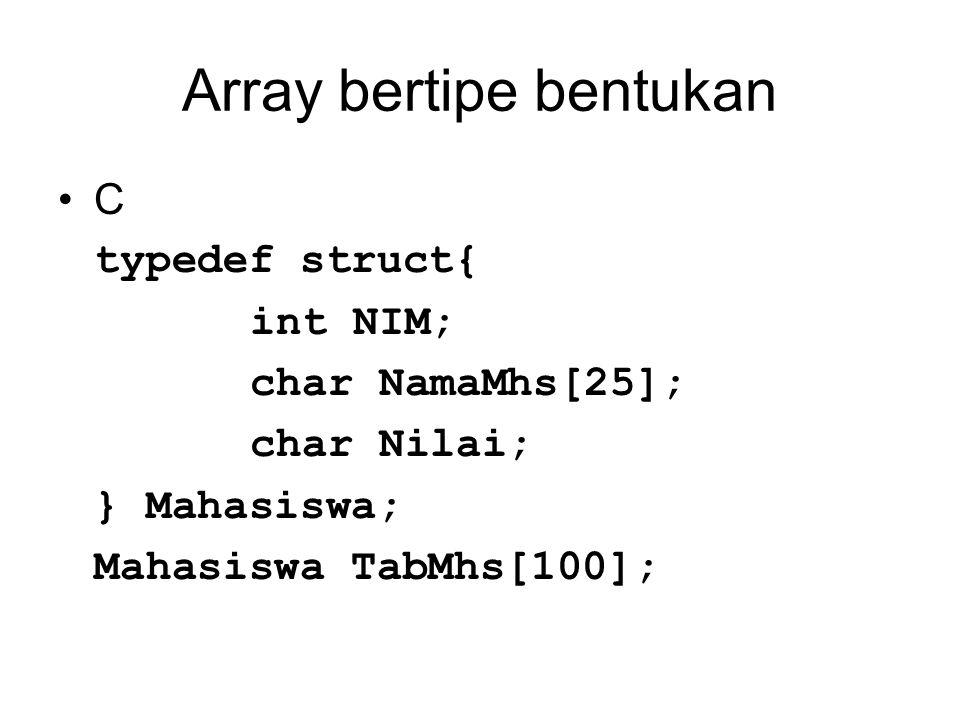 Array bertipe bentukan