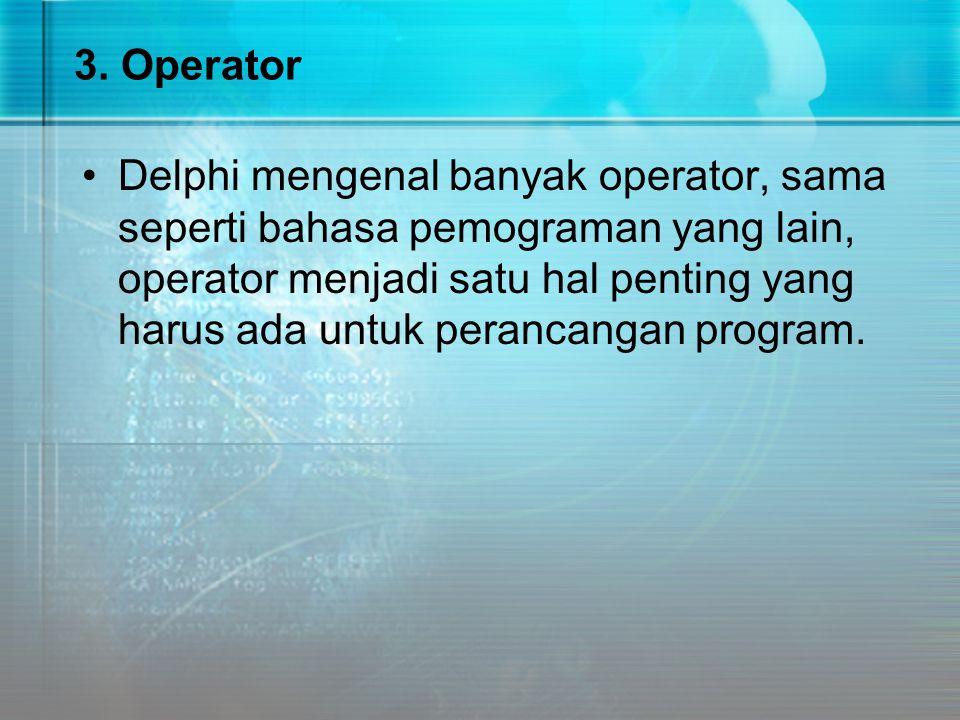 3. Operator