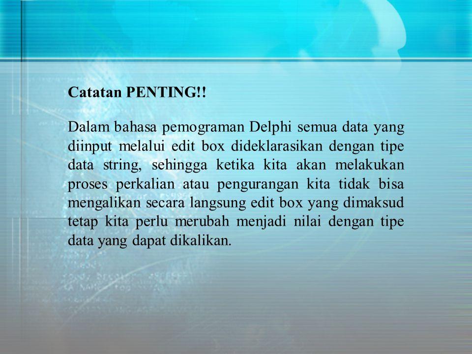 Catatan PENTING!!