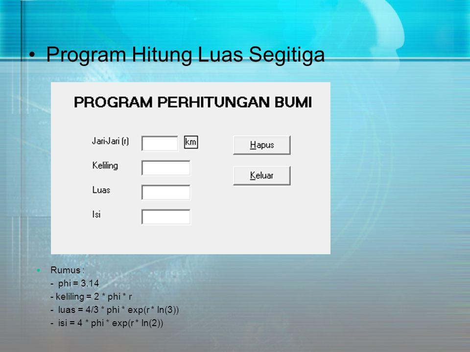 Program Hitung Luas Segitiga